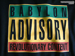 Remera de Babylon Advisory Explicit Content