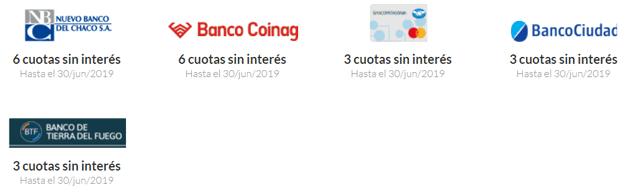 Promociones de cuotas sin interés de MercadoPago